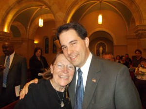 Jeanne and Scott Walker at Holy Hill
