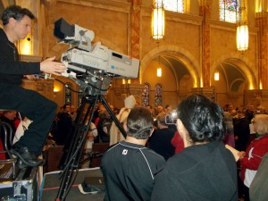 TV Camera, during entrance procession
