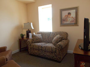 Women's Care Center counseling room