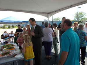 Women's Care Center open house, under the tent
