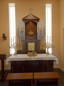 Women's Care Center chapel, doors open