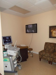 Women's Care Center Ultrasound room