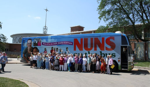 Nuns on the Bus at Sinsinawa, from Sinsinawa Dominicans' Facebook page