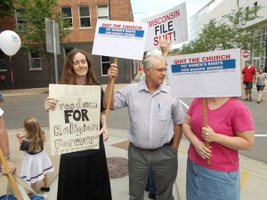 Me with FFRF counter-demonstrators