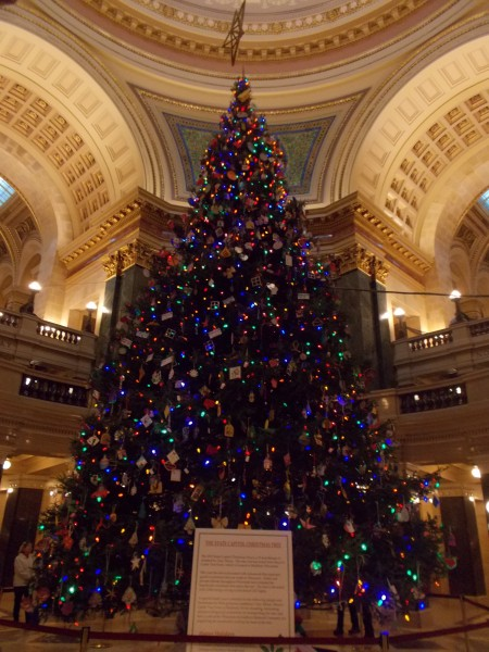 Wisconsin State Capitol Christmas tree 2012