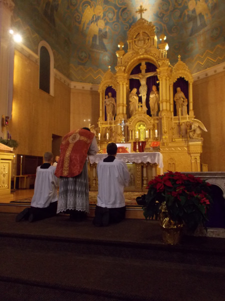 Fr Eric Sternberg Gaudete Sunday High Mass at Holy Redeemer Church 2012