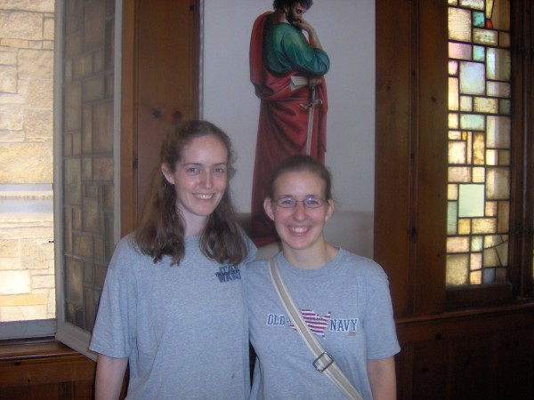 Jen Takach, now Sr Maria Michela SV, and me, at St Paul's in 2007