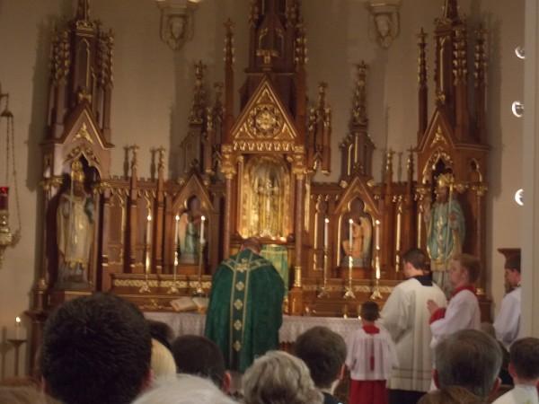 Fr Rick High Altar
