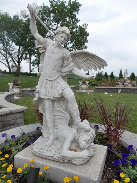Saint Michael the Archange, in the Miracle of Life garden.