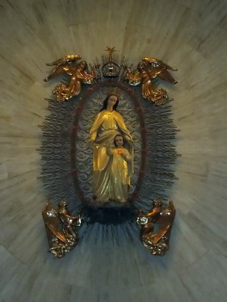 The image of Mary and Jesus in the Shrine Chapel, where many people have come to pray for healing and had their prayers answered.