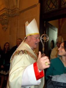 Cardinal Dolan before Mass at Holy Hill