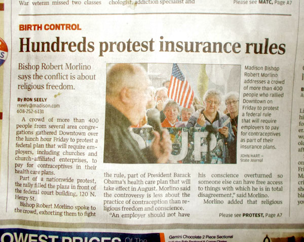 Hundreds protest insurance rules, WSJ Mar 24 by Ron Seely