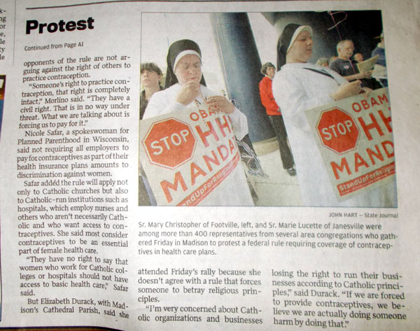 Hundreds rally to protest insurance rules, WSJ Mar 23, by Ron Seely, continuation