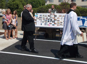 Bishop Morlino after blessing the Women's Care Center chapel