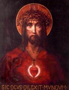 Sacred Heart: Dic Deus Dilexit Mundum