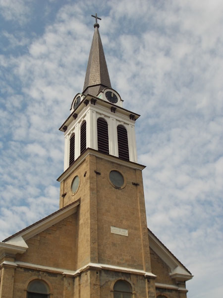 Holy Redeemer Church steeple, Madison, WI