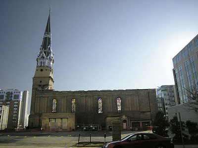 St Raphael's Cathedral after the fire