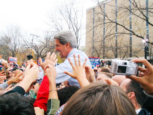 John Kerry in Madison in 2004