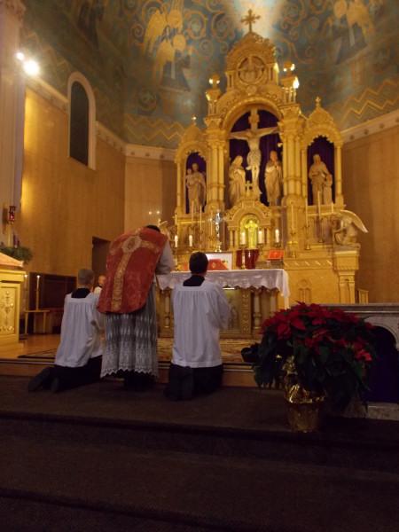 Fr Eric Sternberg Gaudete Sunday High Mass at Holy Redeemer Church 2012