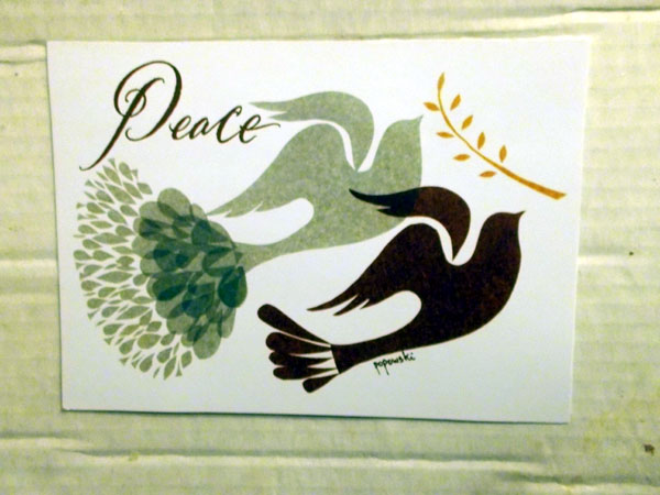Dave's Card, Front: Peace