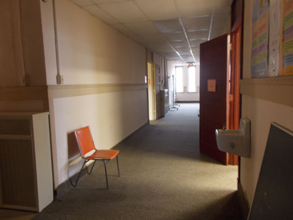 2nd floor hallway in Holy Redeemer School