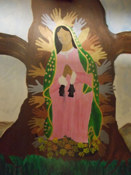 Our Lady of Guadalupe, a mural in the basement of Holy Redeemer School