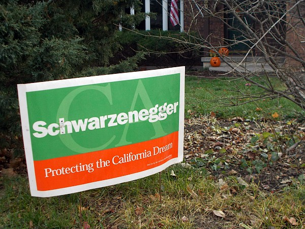 A yard sign nonsequitor in the Nakoma neighborhood, prior to the November elections