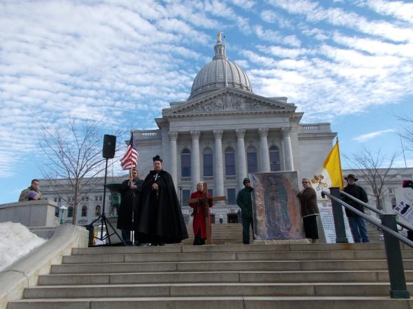 Roe v Wade anniversary pro life Rosary Rally