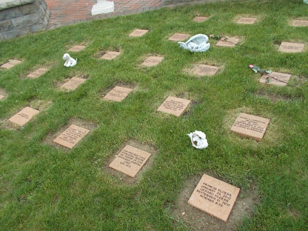 The babies' marker stones.